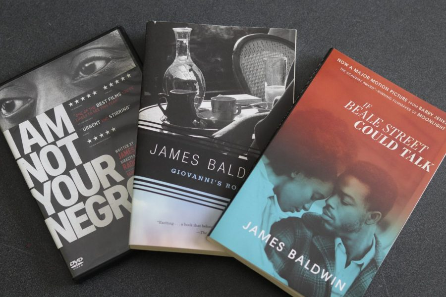 The class screened Raoul Pecks documentary, I Am Not Your Negro, and read, If Beale Street Could Talk.  Then, they were given a choice of books to read independently, one of them being, Giovannis Room.
